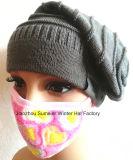 Casquillo hecho punto máscaras termales de las mujeres