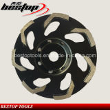 L поделил на сегменты спеченные инструменты диаманта колеса чашки конкретные меля