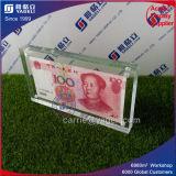 Titulaire de monnaie en argent acrylique à haute valeur nette avec Maganet
