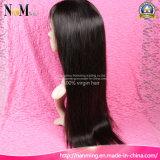 Da peruca indiana do cabelo da densidade 130% cutícula não processada Remy em tudo peruca cheia dianteira do cabelo reto do laço