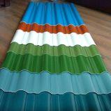El color cubrió las bobinas de acero de /Prepainted que cubrían los materiales de construcción de la hoja