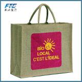 Sac promotionnel fait sur commande de jute de sac à provisions d'emballage de jute