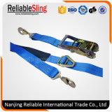"En12195-2 1 ""- 4"" Polyester Ratchet Tie Down für Cargo Lashing"