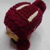 POM POM Chapeau en tricot à la main
