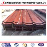 Lo zinco ha ricoperto lo strato d'acciaio ondulato galvanizzato tuffato caldo del tetto per il piatto di industria