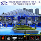 Grande piscina durável de exposições de retângulo grande tenda da parede de vidro