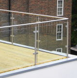 Barandilla de vidrio de acero inoxidable para puertas barandillas