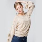 Pullover trasversale robusto lucido del maglione delle 2018 di caduta di inverno donne del manicotto