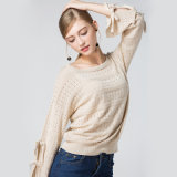 2018 Fall-Winter-glänzender klumpiger Querhülsen-Frauen-Strickjacke-Pullover