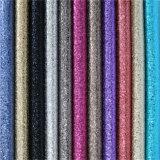Китай Оптовая Текстиль и кожа с блестками Синтетический PU кожа для обуви