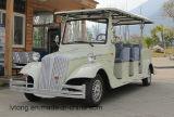 Weiß 8 Sitz Elektrisches klassisches Vergnügungsauto