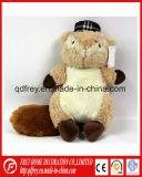 Belle couleur marron de l'Écureuil un jouet mou avec broderie logo
