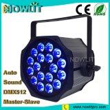 18 uds. de 10W RGBW 4en1 LED de iluminación de interiores PAR
