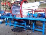 Neumático doble del eje que recicla la máquina de la desfibradora