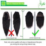 Hochwertiges rohes Jungfrau-Haar-natürliche Farbe 1b-Menschenhaar-Perücke 100%