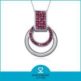 2014 de cristal de moda collar plata esterlina 925