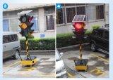300 mm Vermelho Verde Amarelo Luz Portátil Solar LED Traffic Light