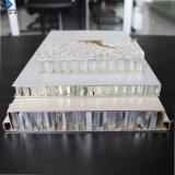25mm épais couleur décoratifs en aluminium revêtu de panneaux d'Honeycomb pour habillages muraux externes