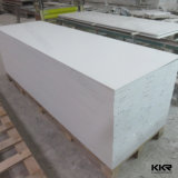 6mmの雪の白いアクリルの石造りの固体表面