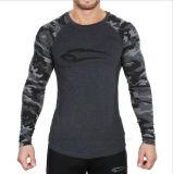 형식 남자는 긴 소매 달리기 또는 체조 t-셔츠를 체중을 줄인다