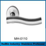 Manetas de puerta del tubo del acero inoxidable de Resistan del fuego de la dimensión de una variable del arco de Hotsale con el bloqueo