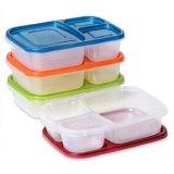 Recipiente de armazenamento do alimento da classe de 3 compartimentos
