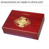 Contenitore di regalo di legno in bottiglia del pino di stampa 6 su ordinazione di marchio per vino rosso