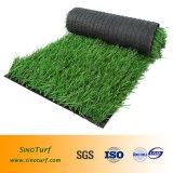 O homem fêz o gramado para o campo de esporte, campo de futebol, campo de futebol com certificado do GV