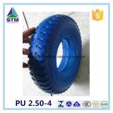 Roda PU azul para o mercado da Coréia e Japão