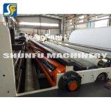 El rebobinar automático del papel higiénico de la maquinaria del papel de rodillo del tejido el rebobinar