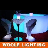 Taburete de bar colorido y café LED para mesa y taburetes de bar baratos