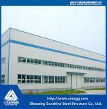 La estructura de acero de almacén en China