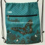Мешок Drawstring изготовленный на заказ дешевого Backpack полиэфира выдвиженческий