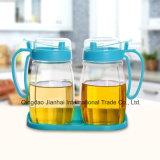 POT di vetro libero a perfetta tenuta dell'olio dell'articolo da cucina 600ml con la protezione di plastica