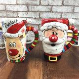 La sublimazione foggia a coppa la tazza promozionale di natale delle tazze del regalo di natale di ceramica della tazza