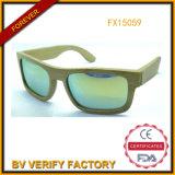 Occhiali da sole di bambù con stile rispecchiato di modo dell'obiettivo (FX15059)