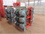 Cage de double de levage d'ascenseur de chantier de construction de la Chine 2t d'usine
