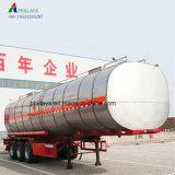 Aço Inoxidável de alumínio de combustível caminhão tanque petroleiro Semitrailer de armazenamento