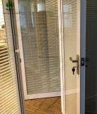 Persiana de ventana de cristal con el perfil de aluminio