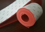 Strato della gomma spugnosa del silicone di colore rosso con l'adesivo di 3m