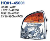 Hyundai H100/Porter/Pick-up 2004 OEM#92101-4f000/92102-4f000/92101-4f010/92102-4f010를 위한 헤드라이트 설명서 또는 에 모터 구멍 회의