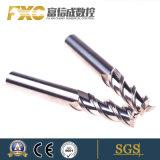 Moinho de extremidade do carboneto de 3 flautas para a liga de alumínio