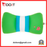 Cuscino capo verde personalizzato dell'automobile di resto farcito peluche per promozionale