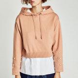 Fashion Mesdames tricot pulls molletonnés, hoodies avec des perles sur les manches