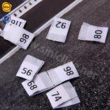 Centre de haute qualité Personnalisée Sinicline plié Vêtements tissés Étiquette de taille