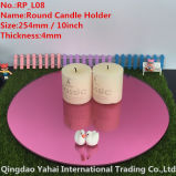 4mm Large Round Pink Glass Candle Holder
