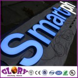O Lit dianteiro do diodo emissor de luz rotula a luz ao ar livre do diodo emissor de luz do Signage