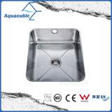 Cocina de acero inoxidable sola cubeta fregadero (AEC4642)