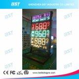 Im Freienled-Gaspreis-Zeichen mit LED-beweglichem Zeichen