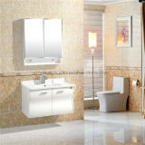 Cabinet de salle de bains de couleur de chocolat/Cabinet de salle de bains simple de PVC d'évier
